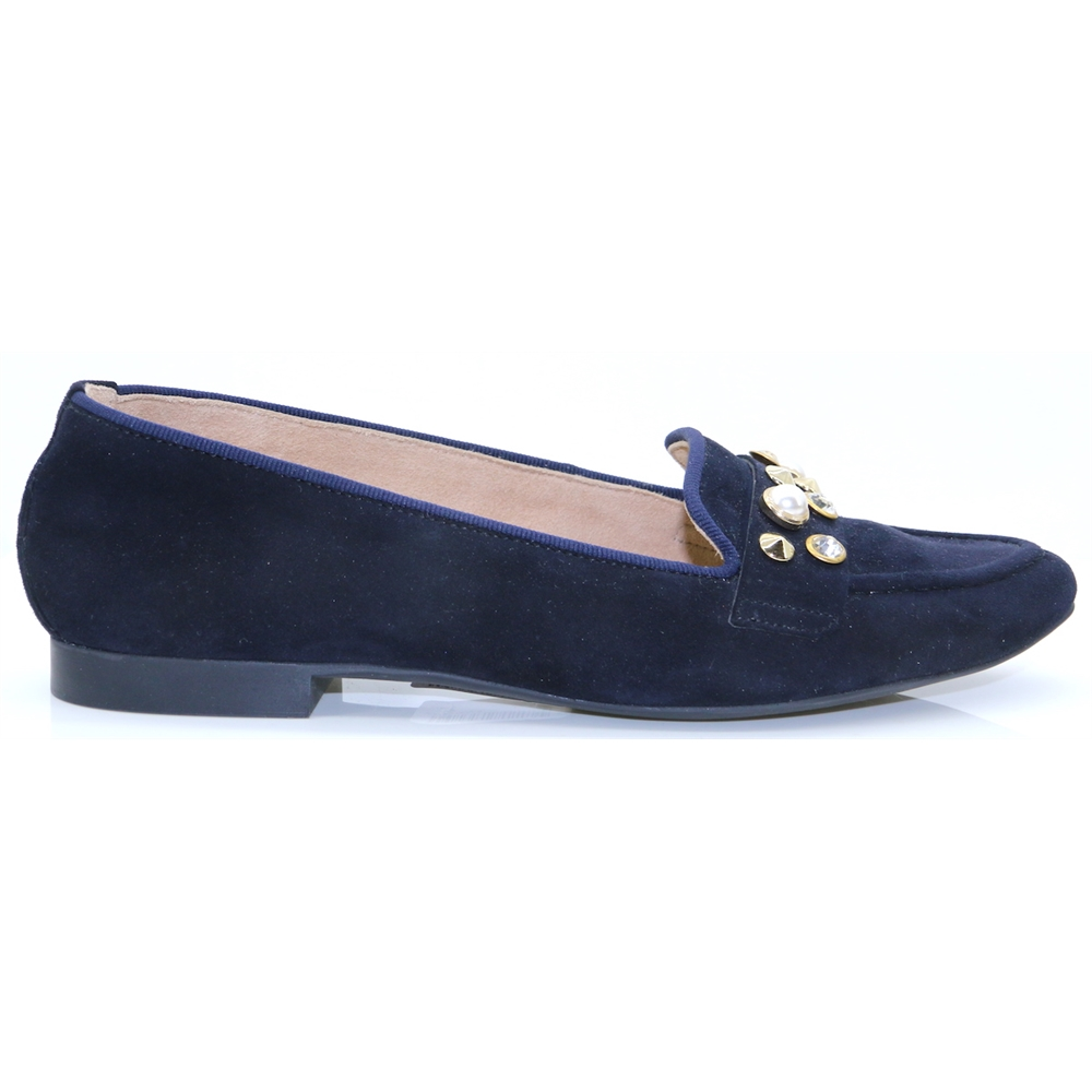 2375 - PAUL GREEN NAVY SLIP ON SHOES