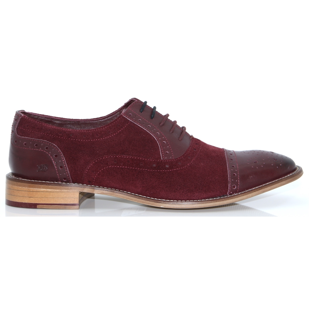 Wilson - LONDON BROGUES BORDO SUEDE BROGUES