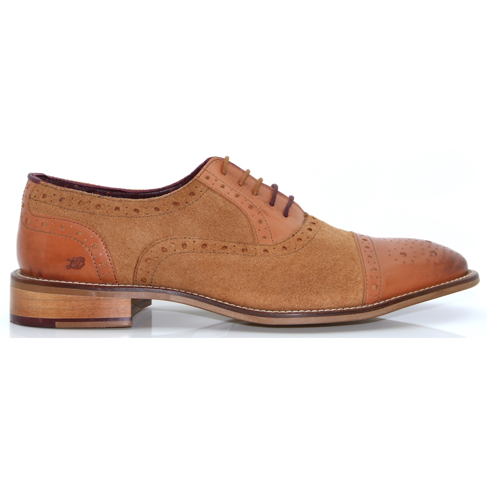 Wilson - LONDON BROGUES TAN SUEDE BROGUES