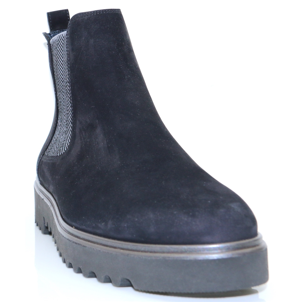 9343 - PAUL GREEN DARK NAVY AND GREY CHELSEA BOOTS