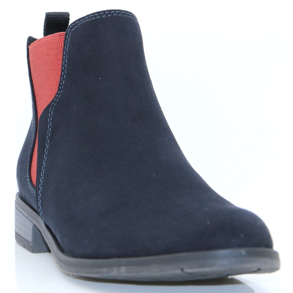 25321-31 - MARCO TOZZI NAVY COMB CHELSEA BOOTS