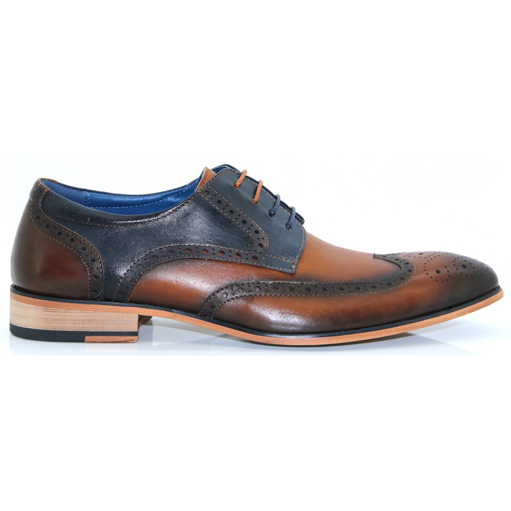 Nathan - JUSTIN REECE TAN AND NAVY BROGUES