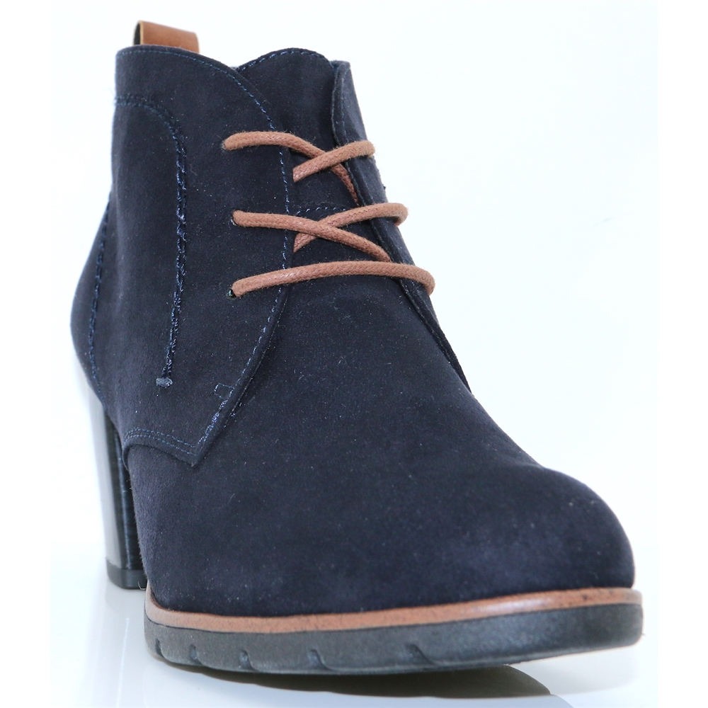 25107-31 - MARCO TOZZI DARK NAVY ANKLE BOOTS