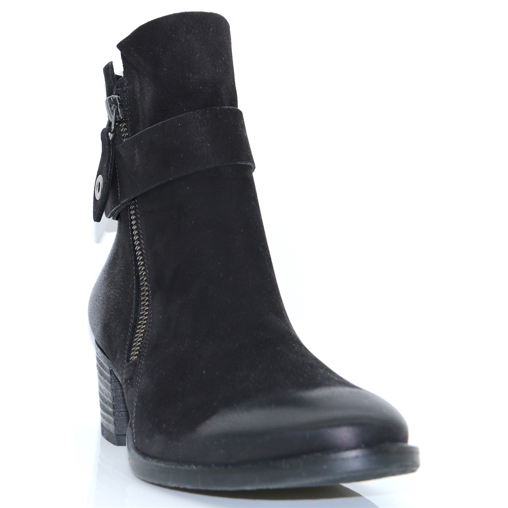 9264 - PAUL GREEN BLACK NUBUCK ANKLE BOOTS