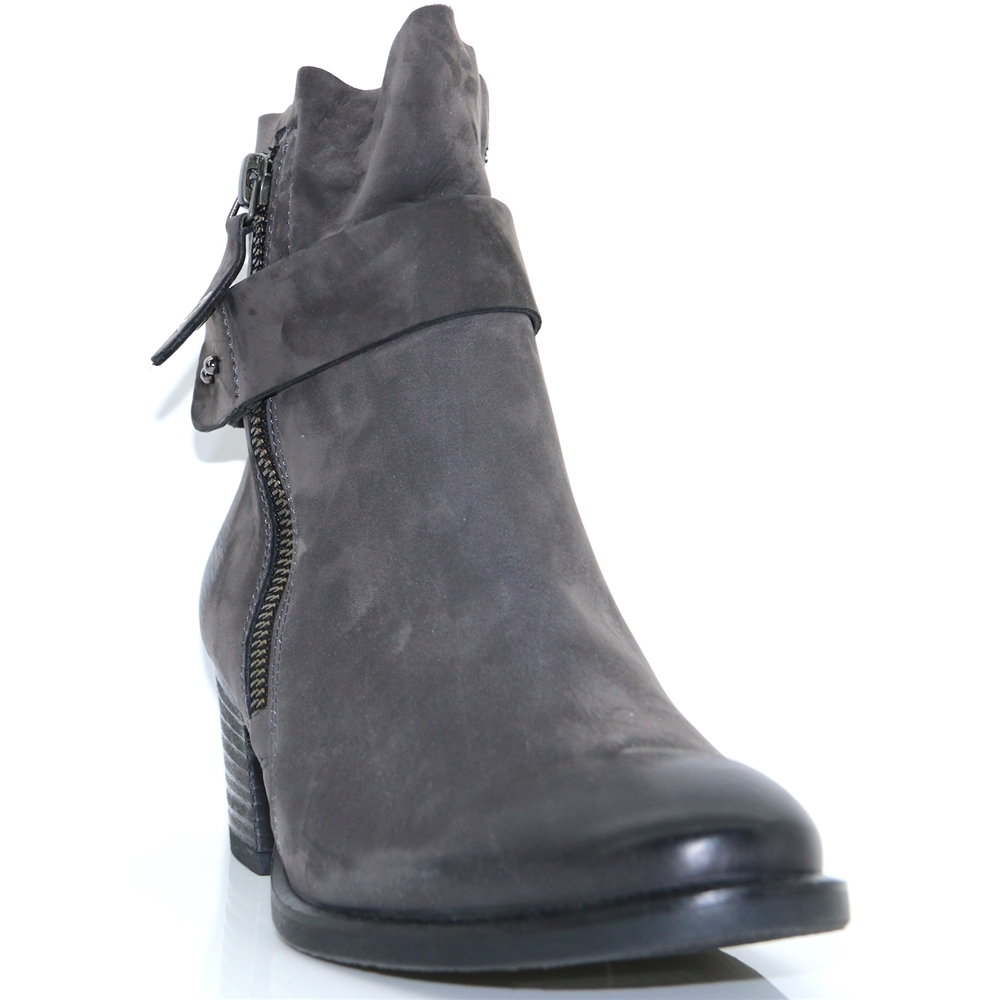 9264 - PAUL GREEN GREY NUBUCK ANKLE BOOTS