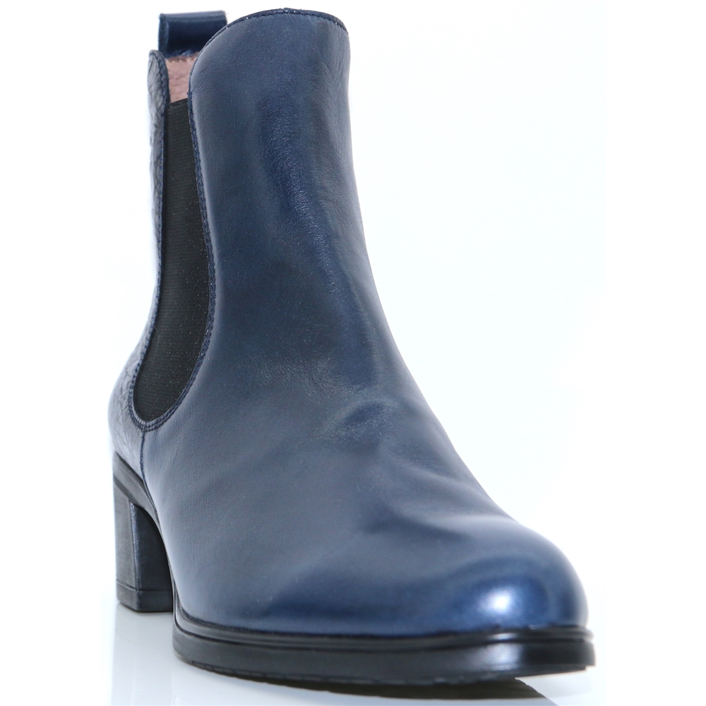 G-40112 - WONDERS NAVY LEATHER CHELSEA BOOTS