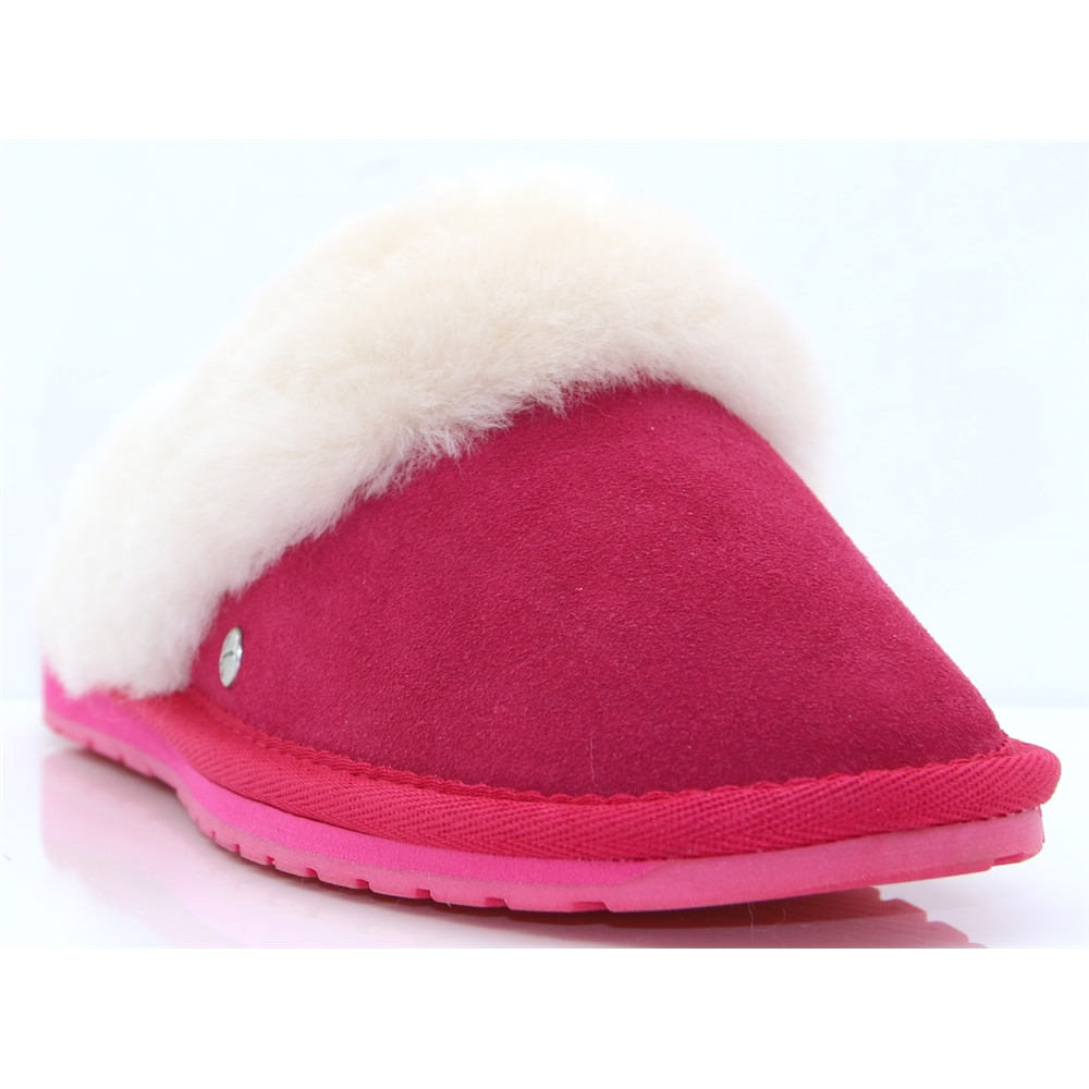 Jolie - EMU FUCHSIA SHEEP SKIN SLIPPERS
