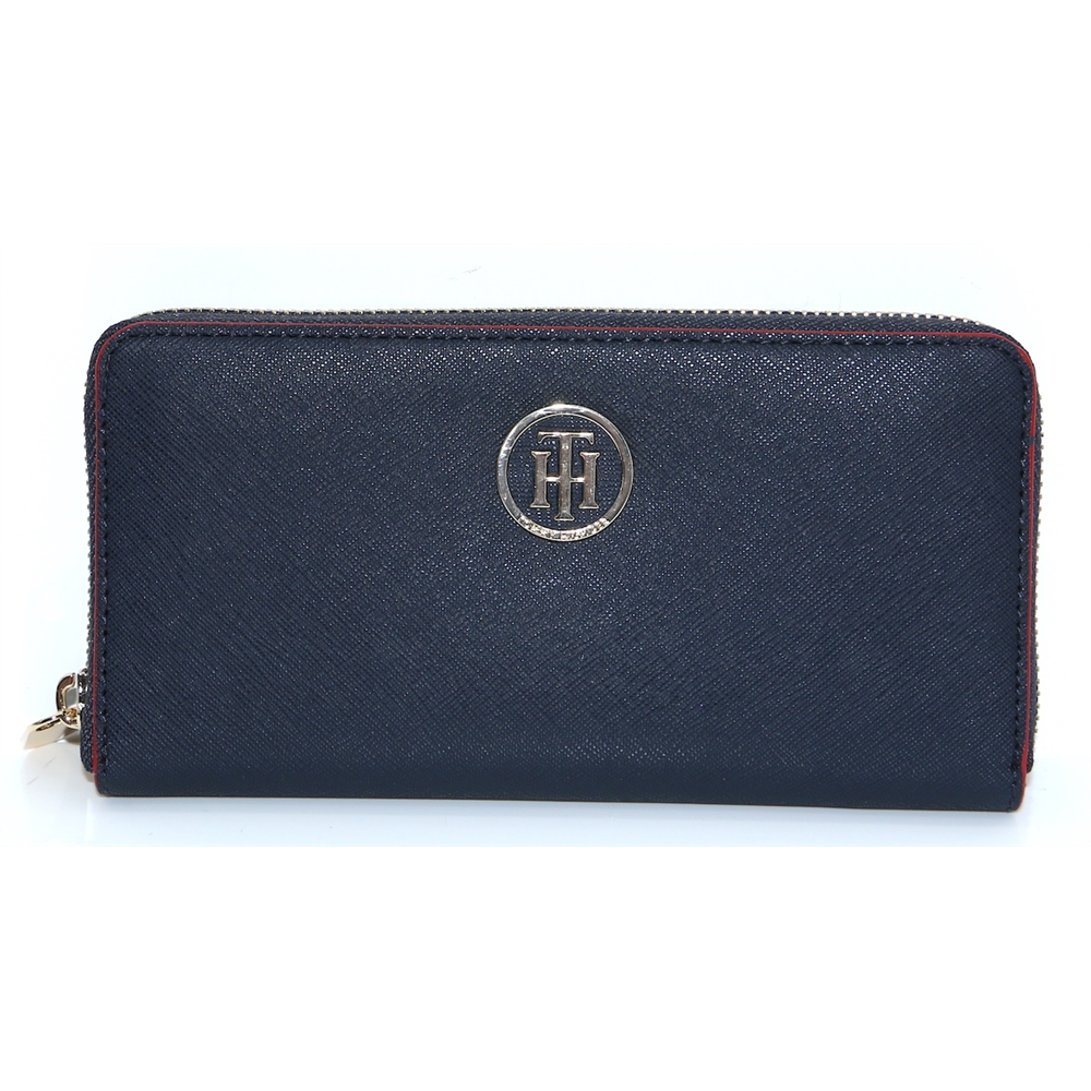 Honey Lrg ZA Wallet - Tommy Hilfiger NAVY WITH RED EDGE PURSE