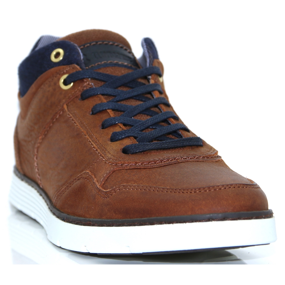 Byrne - LLOYD & PRYCE CAMEL HIGH TOP TRAINERS