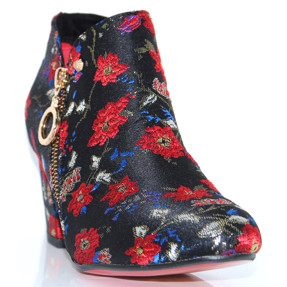 Balham/Bromley - KATE APPLEBY FLOWER PRINT ANKLE BOOTS