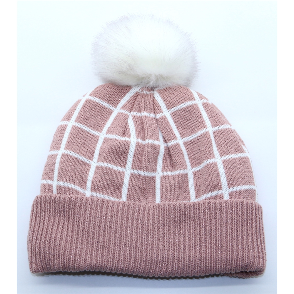 3-3269 - DENTS PINK CHECK HAT