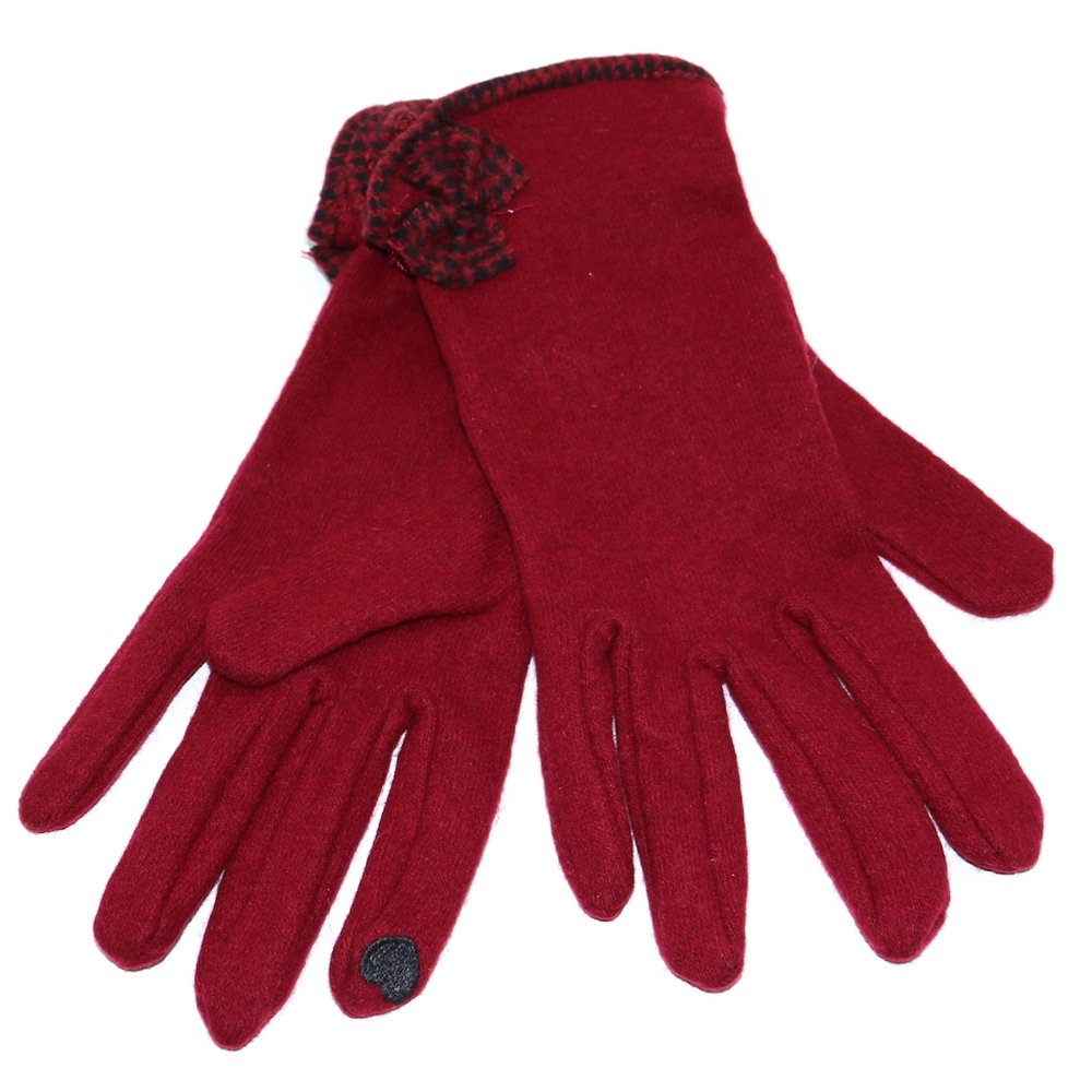 6-3207 - DENTS BURGUNDY GLOVES