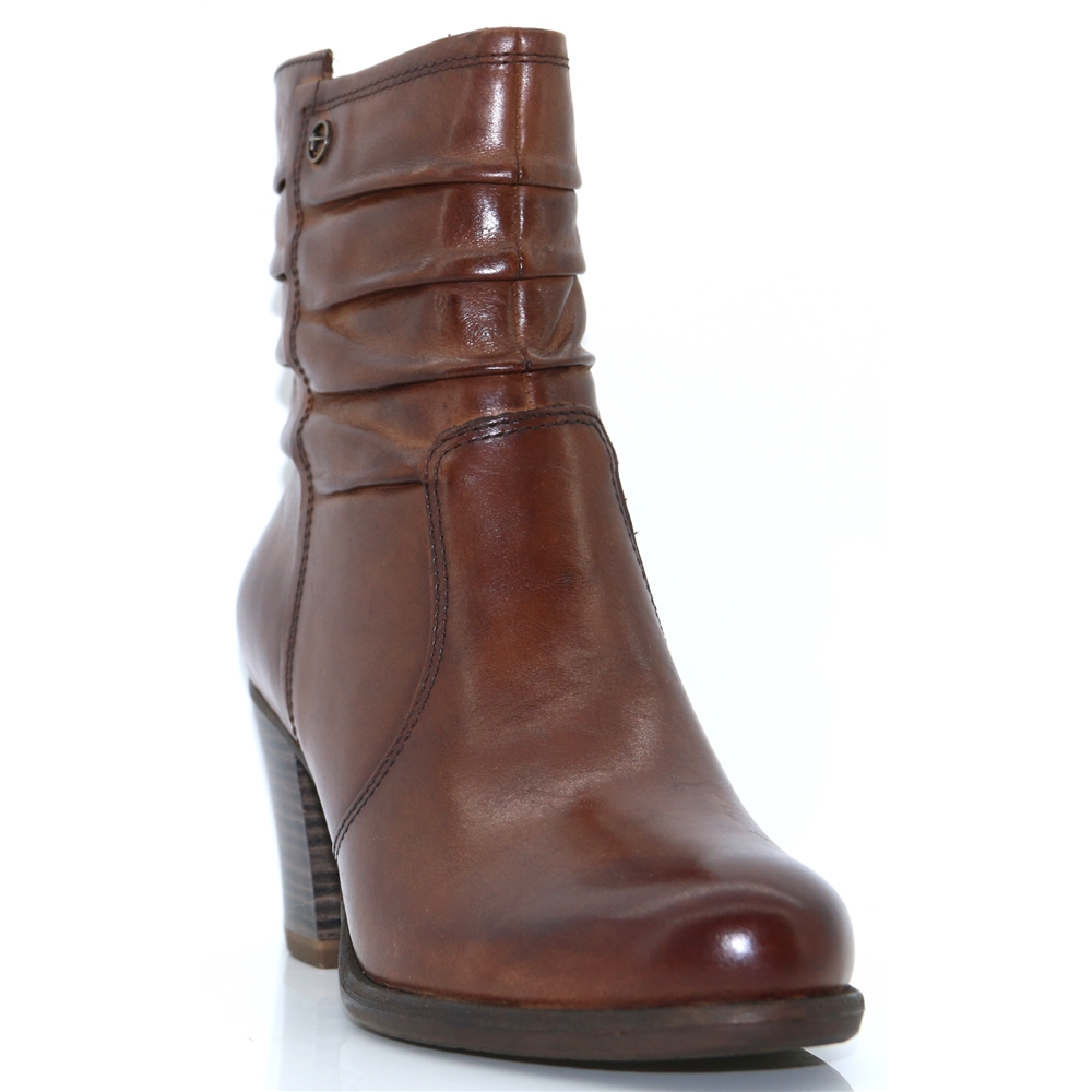 25341-21 - TAMARIS BROWN ANKLE BOOTS