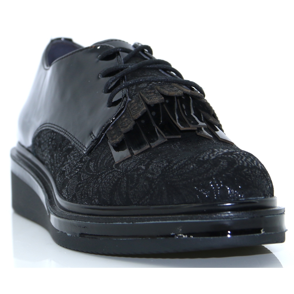 ONISA - MAMZELLE BLACK LACE UP SHOES