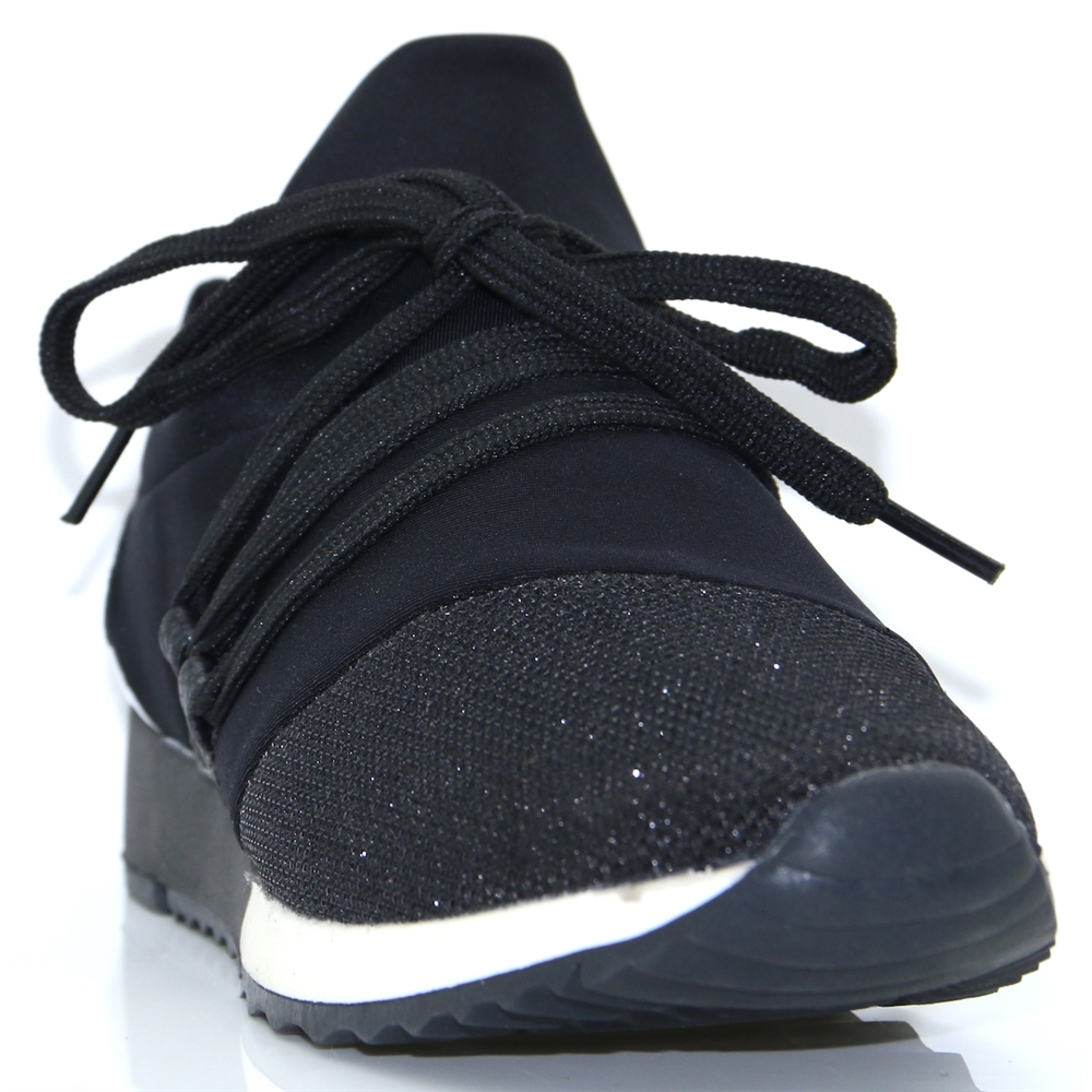 437783 - SPROX BLACK SLIP ON TRAINERS