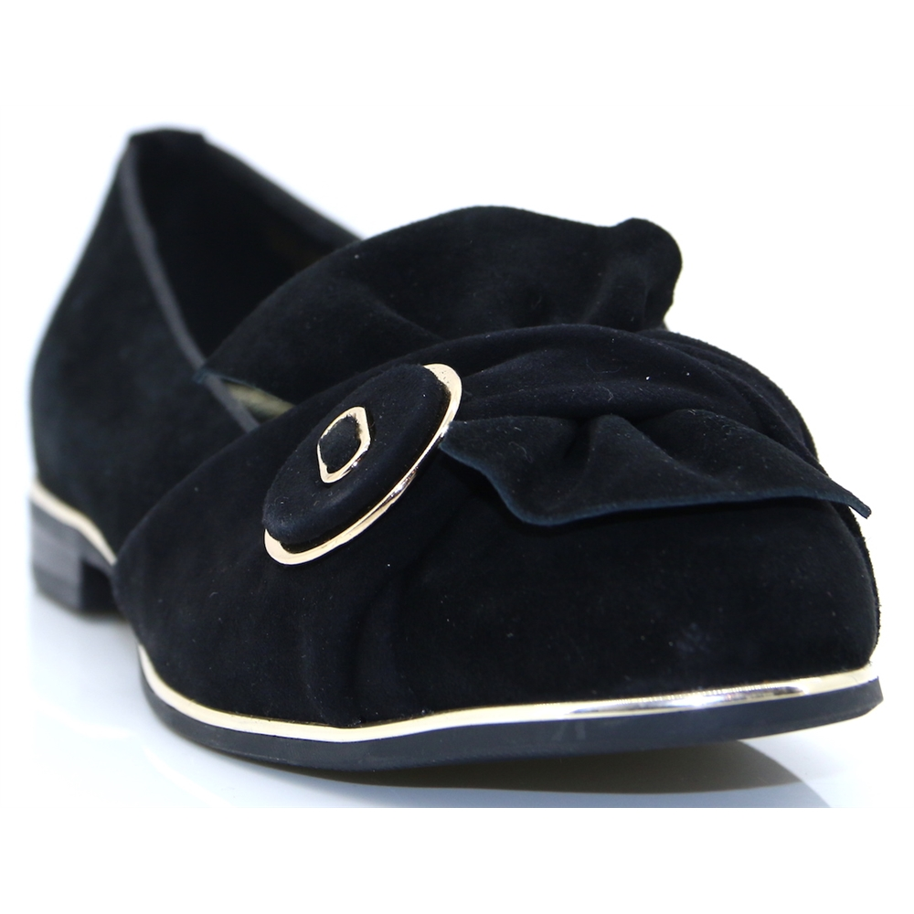 Earlah - MODA IN PELLE BLACK SLIP ON SHOES