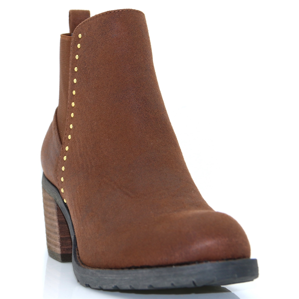 Angela - MODA IN PELLE TAN ANKLE BOOTS