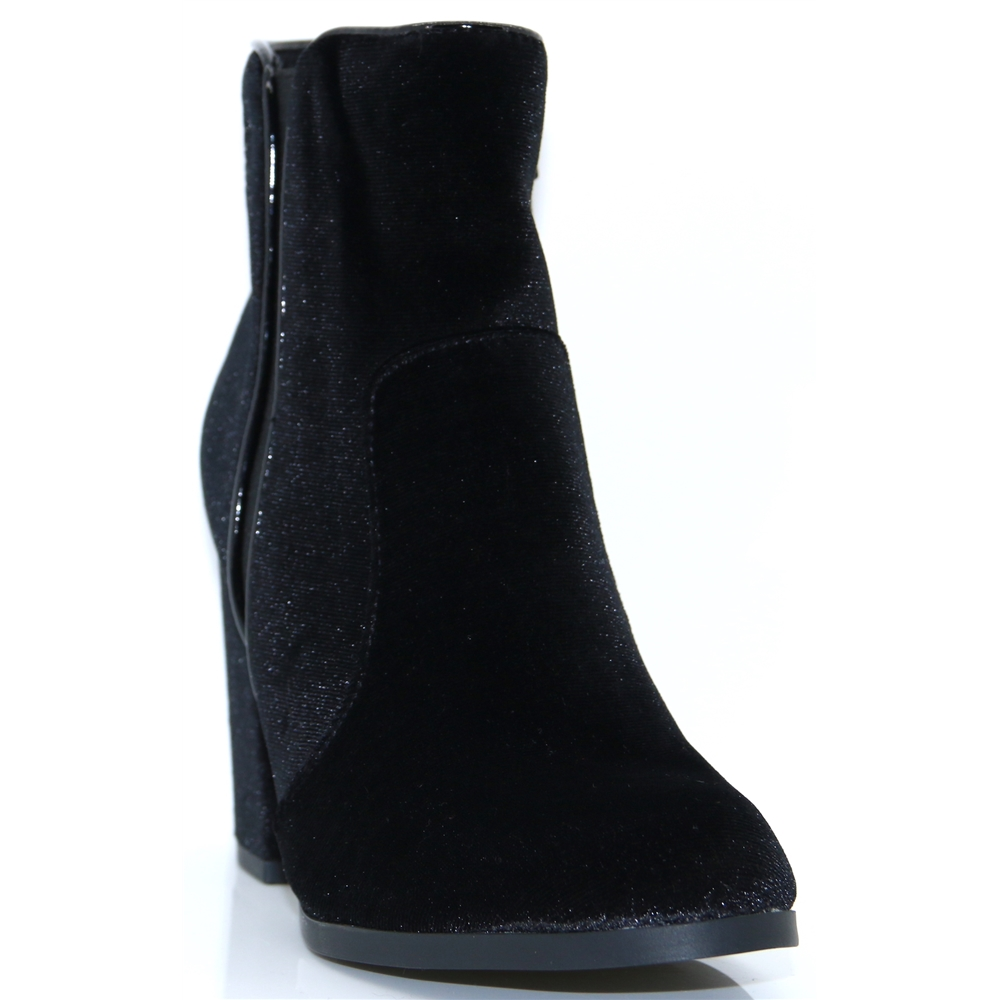 SX004493 - SPROX BLACK VLEVET ANKLE BOOTS