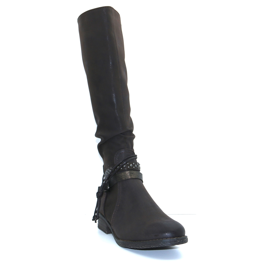 25612-21 - MARCO TOZZI BROWN KNEE HIGH BOOTS