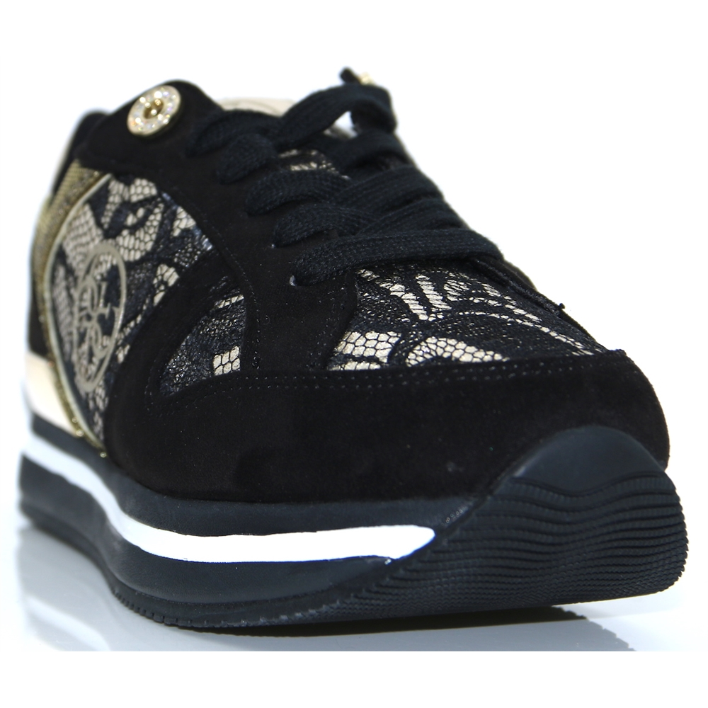 FLDA44 LAC12 - GUESS BLACK AND GOLD TRAINERS