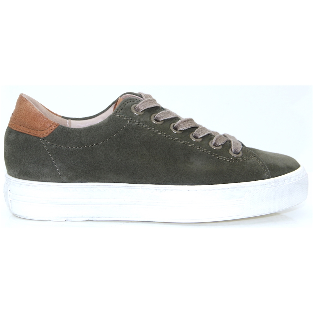 4741 - PAUL GREEN KHAKI AND TAN TRAINERS