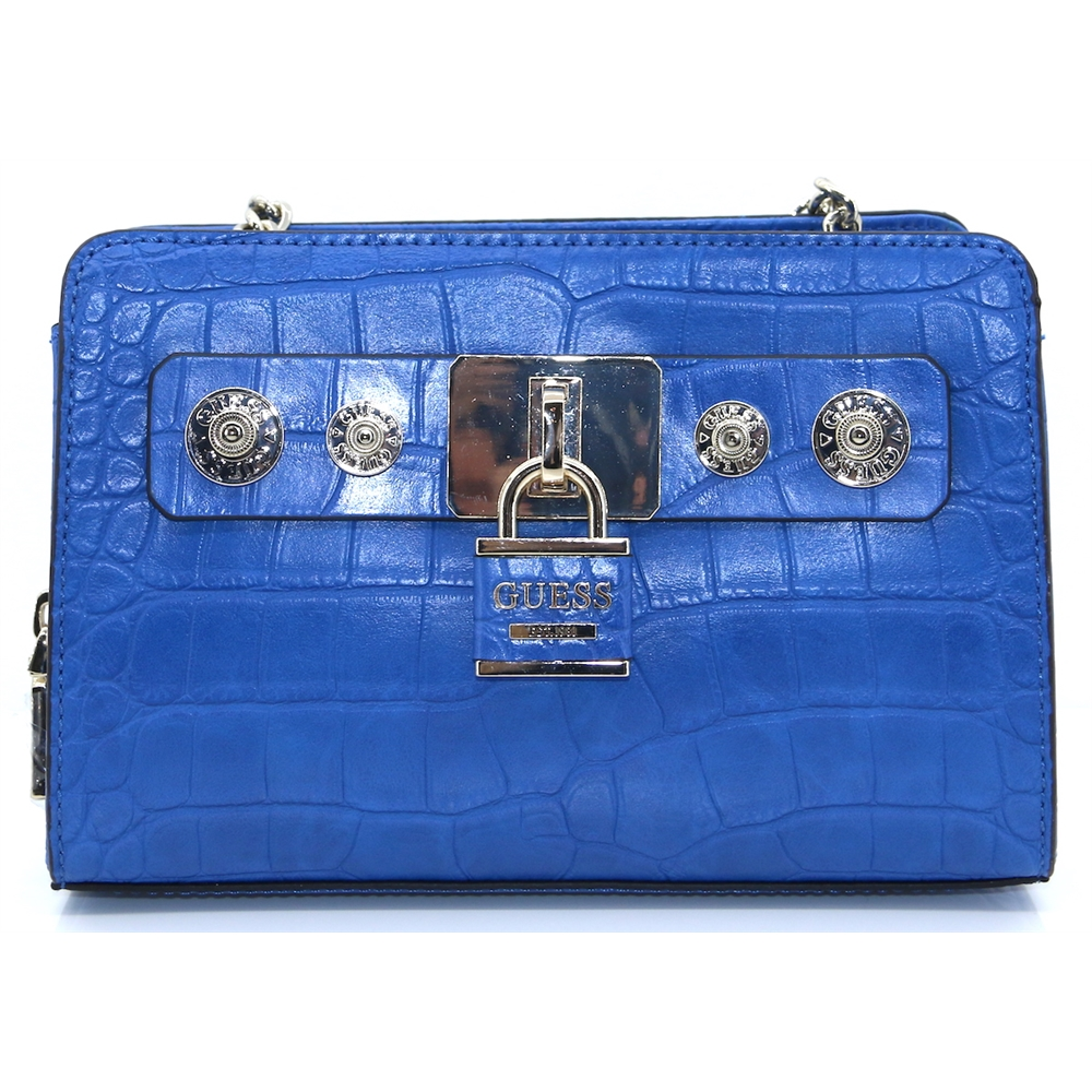 CG718214 - GUESS BLUE CROC CROSSBODY BAG