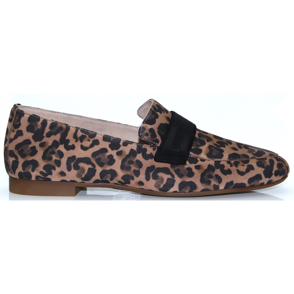 2462 - PAUL GREEN LEOPARD PRINT LOAFERS