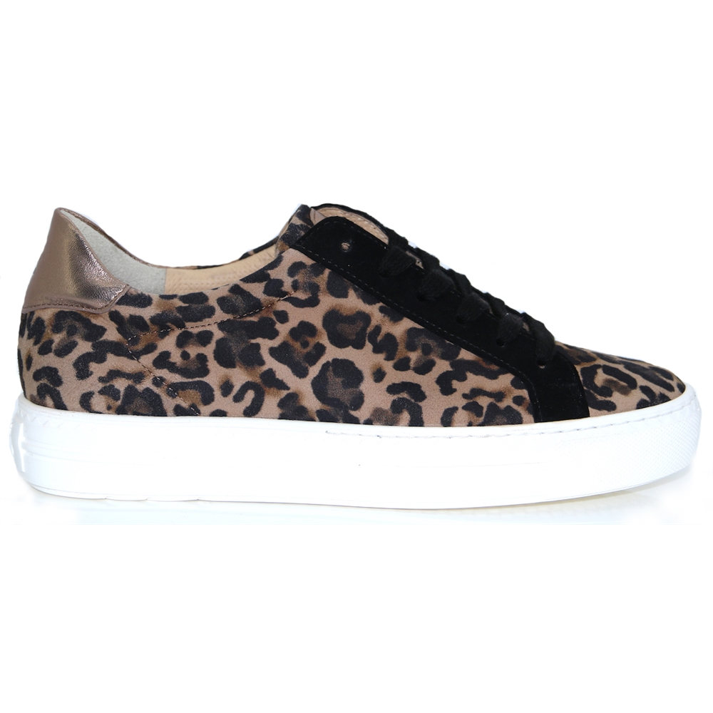 4717-024 - PAUL GREEN LEOPARD PRINT TRAINERS