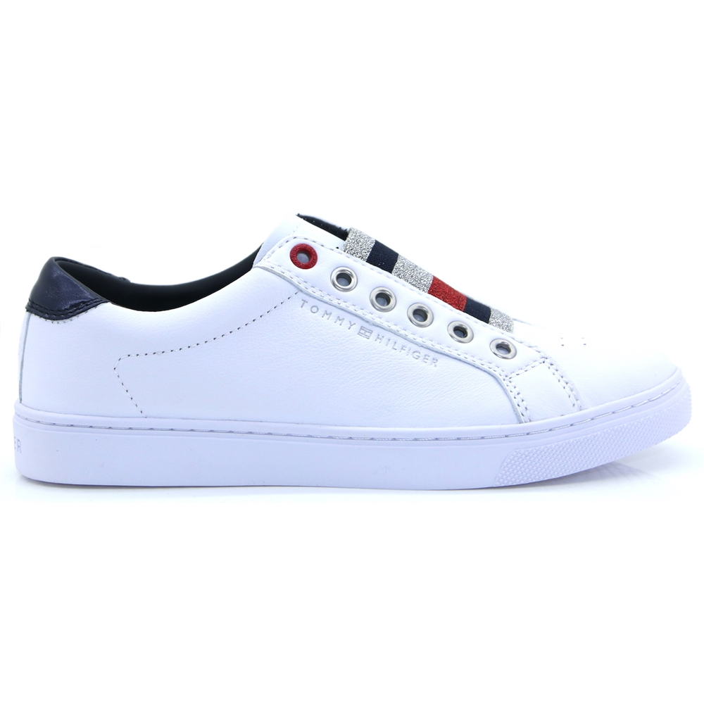 Tom.Elastic Ess.Sneaker - TOMMY HILFIGER WHITE TRAINERS