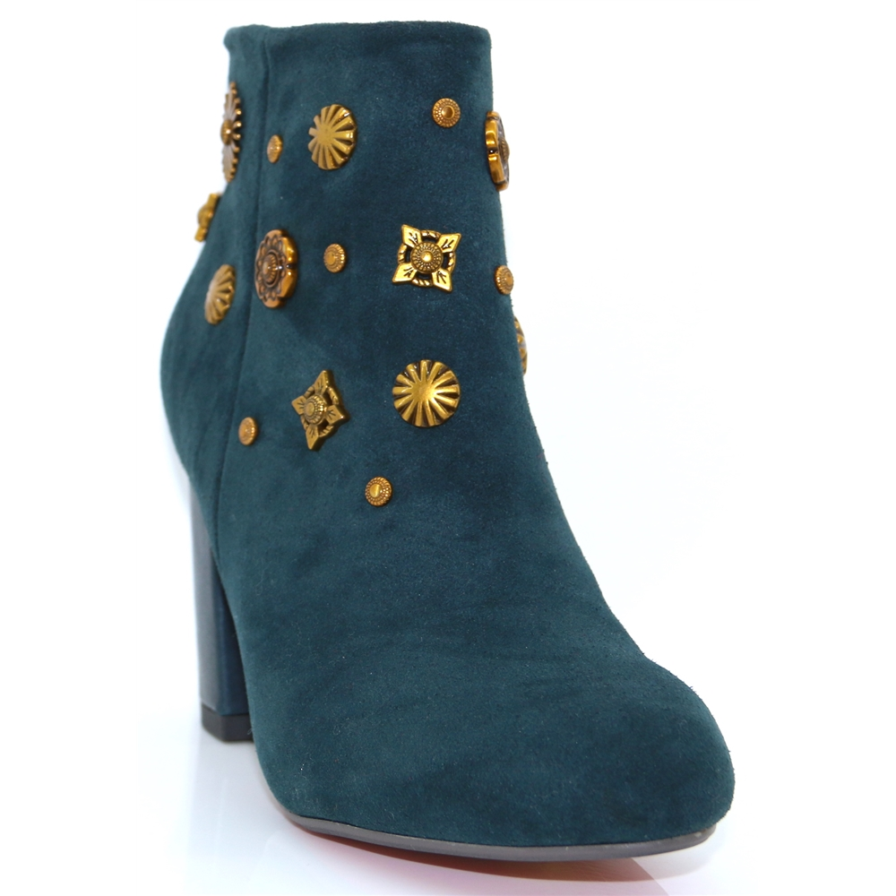 Wendy - KATE APPLEBY EMERALD GREEN ANKLE BOOTS