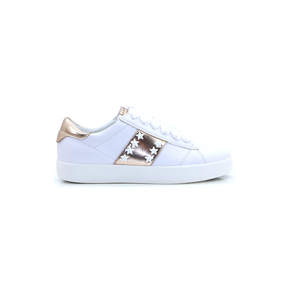 23708-32 - MARCO TOZZI WHITE AND ROSE METALLIC TRAINERS