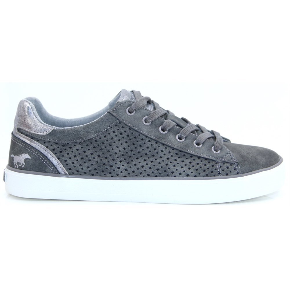 1267306 - MUSTANG DARK GREY TRAINERS