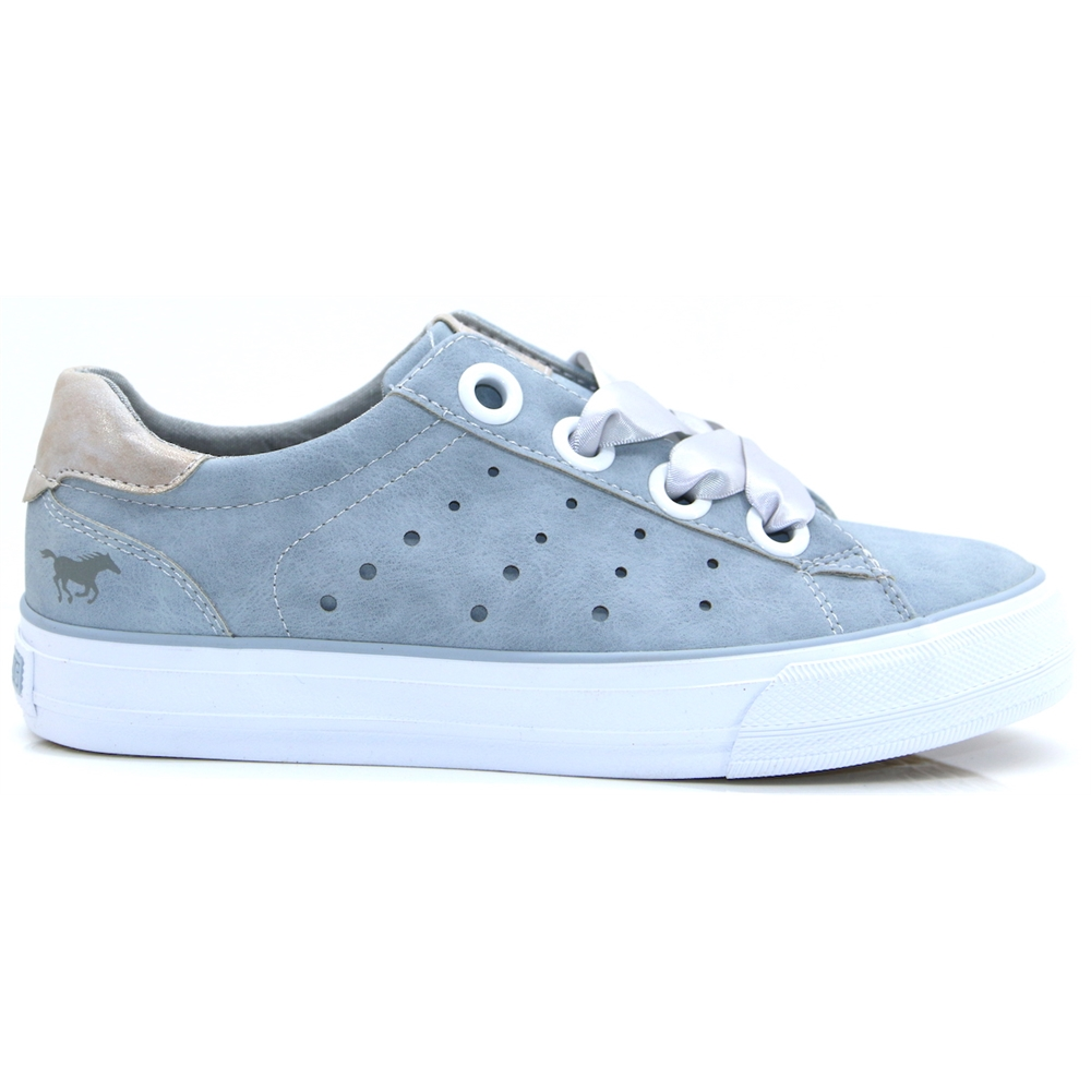 1272302 - MUSTANG LIGHT BLUE TRAINERS