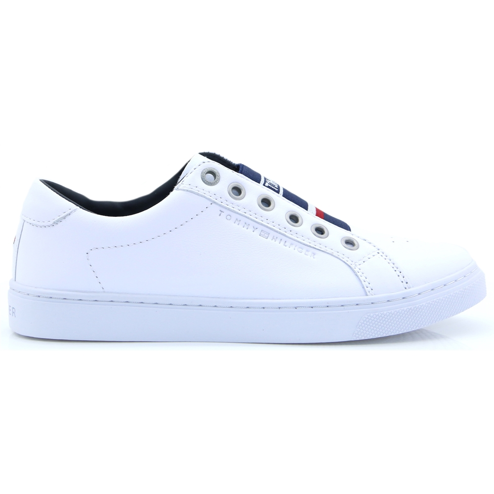 Tom.Elastic City Sneaker - Tommy Hilfiger WHITE SLIP ON TRAINERS