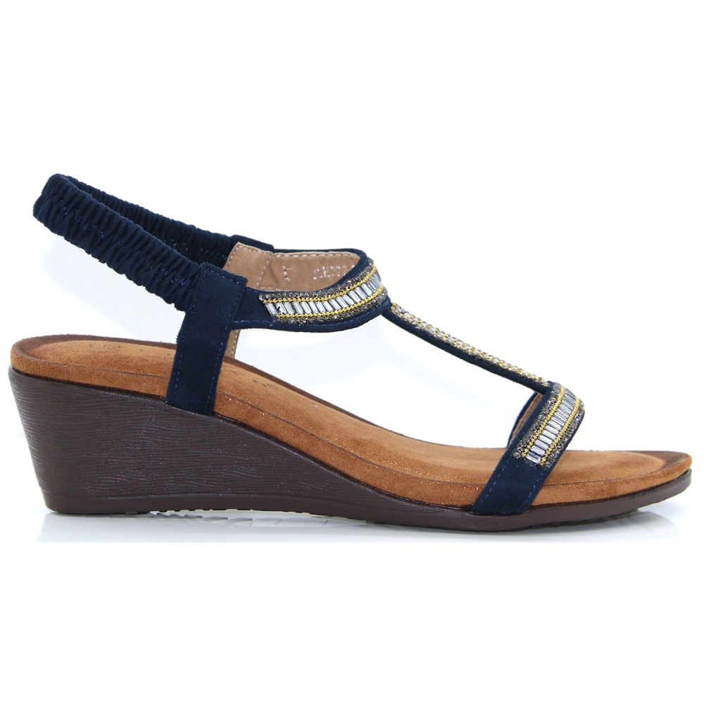Tabitha - LUNAR NAVY WEDGES