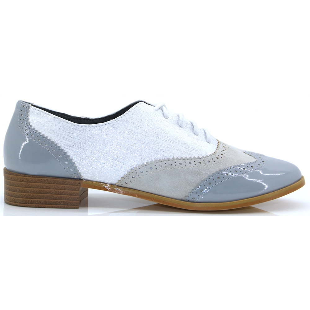 VS4599 - REDS GREY BROGUES