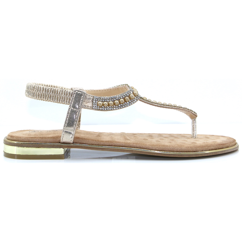 Iowa - LUNAR GOLD PEARL SANDALS