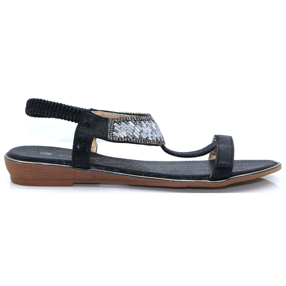 Donatella - LUNAR BLACK SANDALS
