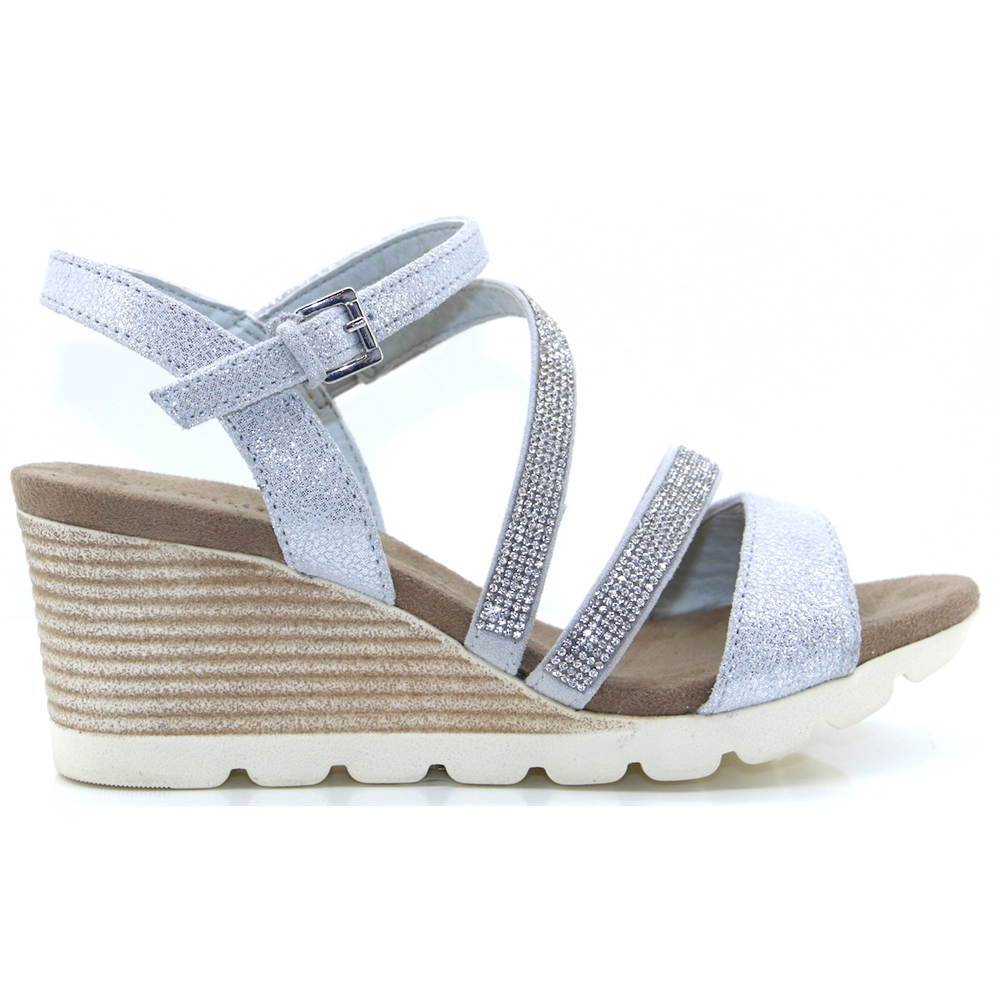 28309-22 - CAPRICE SILVER WEDGES