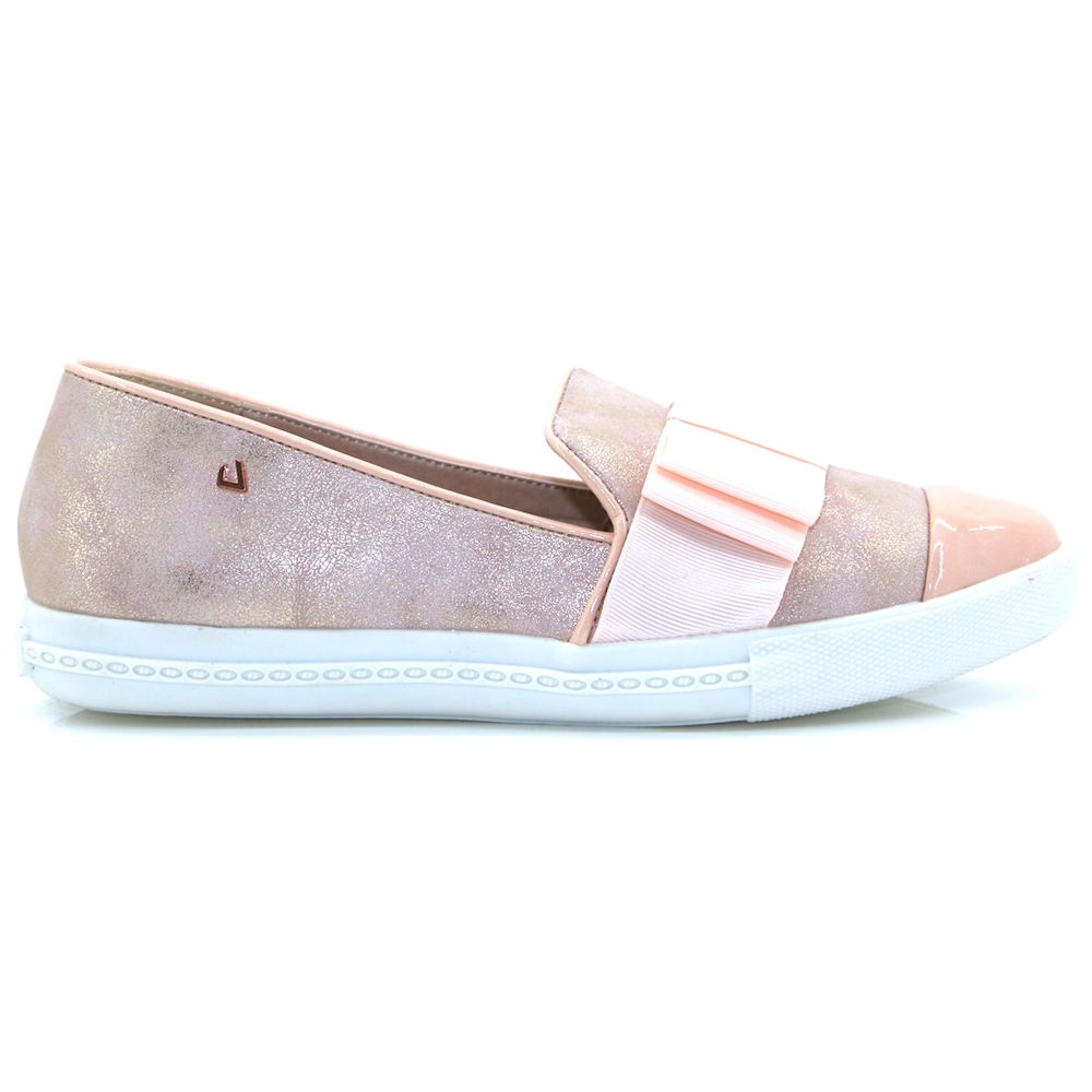 On A Round - UNA HEALY COTTON CANDY METALLIC SLIP ON SHOES