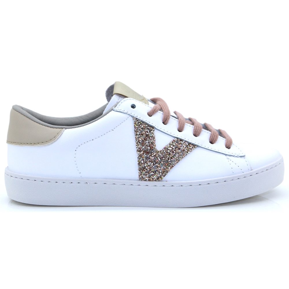 1126143 - VICTORIA WHITE AND NUDE TRAINERS