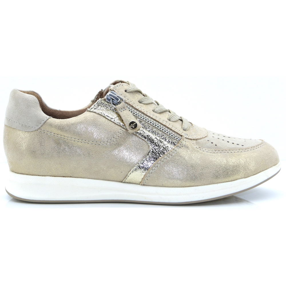 23606-22 - TAMARIS BEIGE TRAINERS