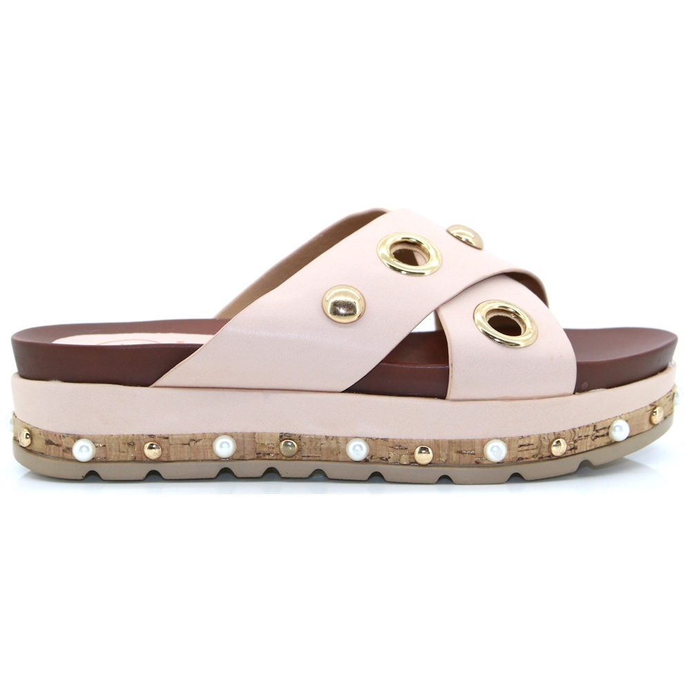 Stockbridge - ZANNI & CO PINK SLIDERS