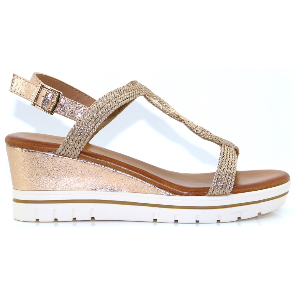 Arkansas - ZANNI & CO ROSE GOLD WEDGES