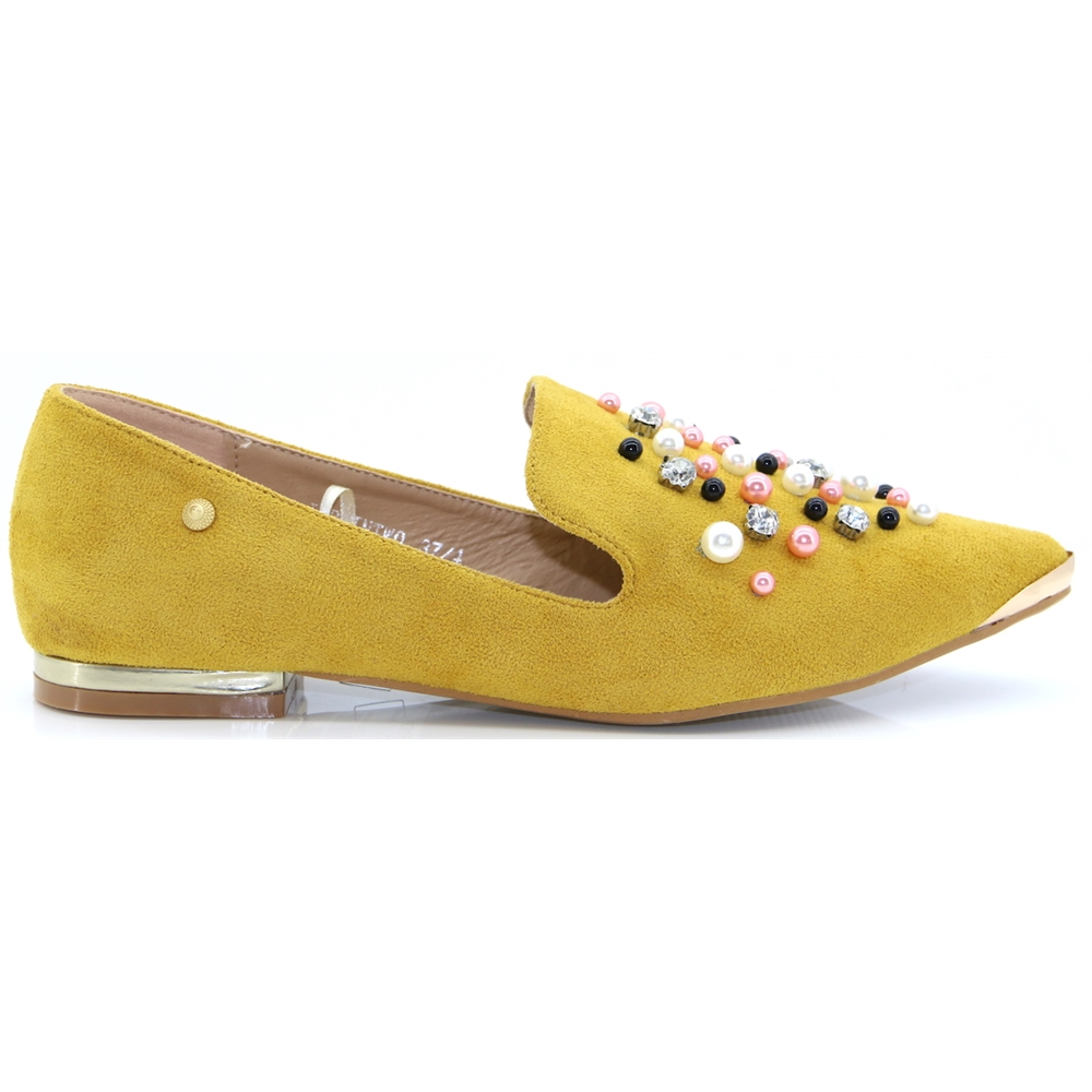 Japlin - ESCAPE MUSTARD BLING SLIP ON SHOES