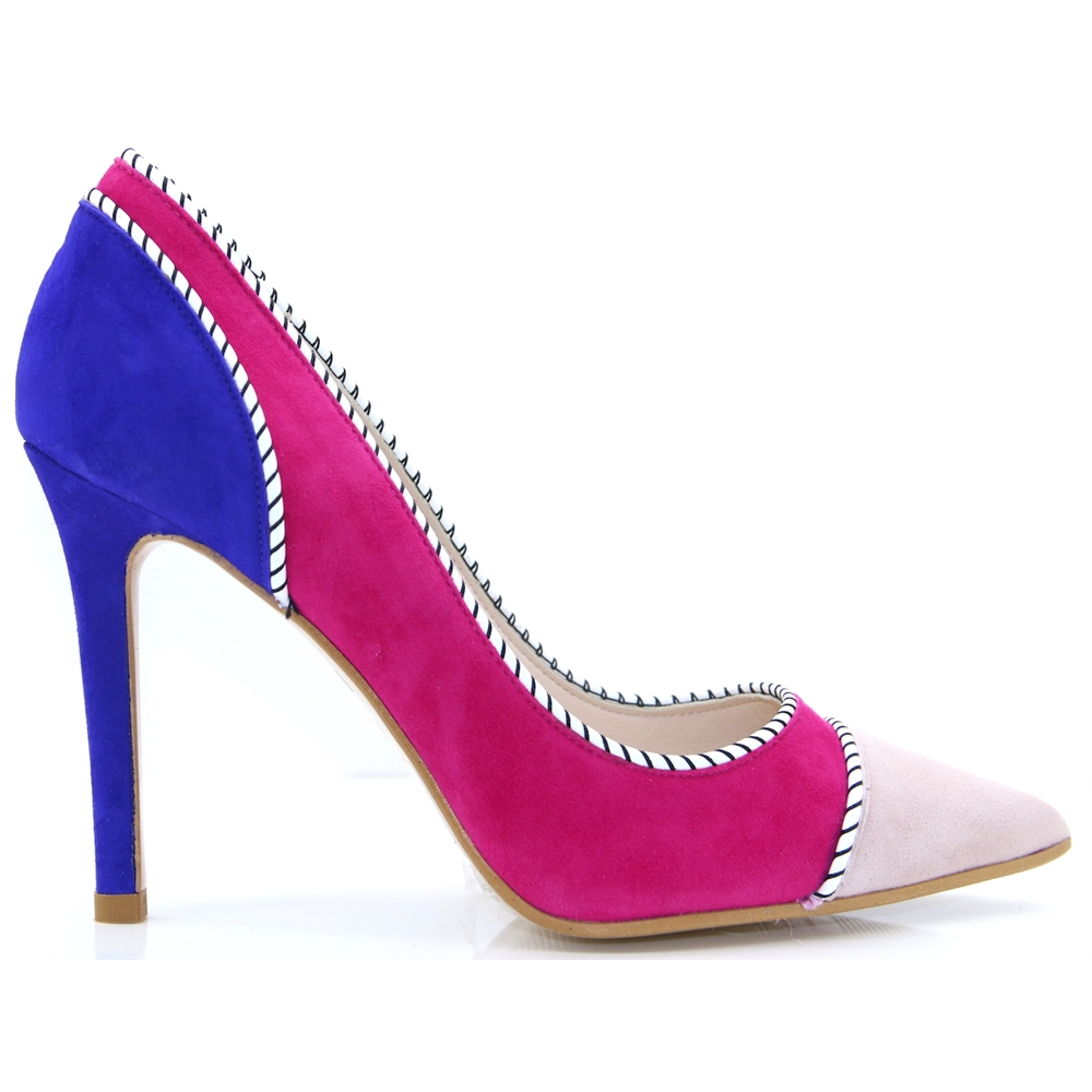 Vensil - LODI PINK AND BLUE OCCASION HEELS