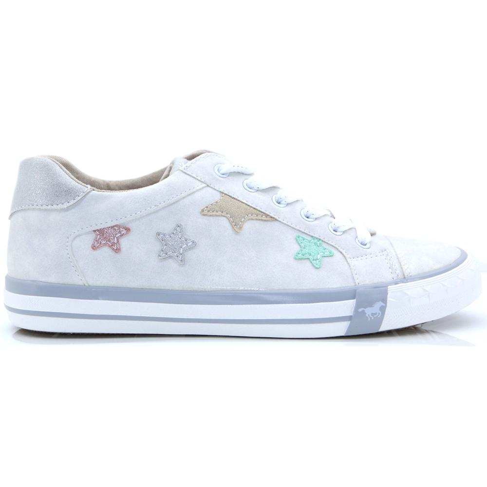 5024309 - MUSTANG OFF WHITE TRAINER WITH STARS