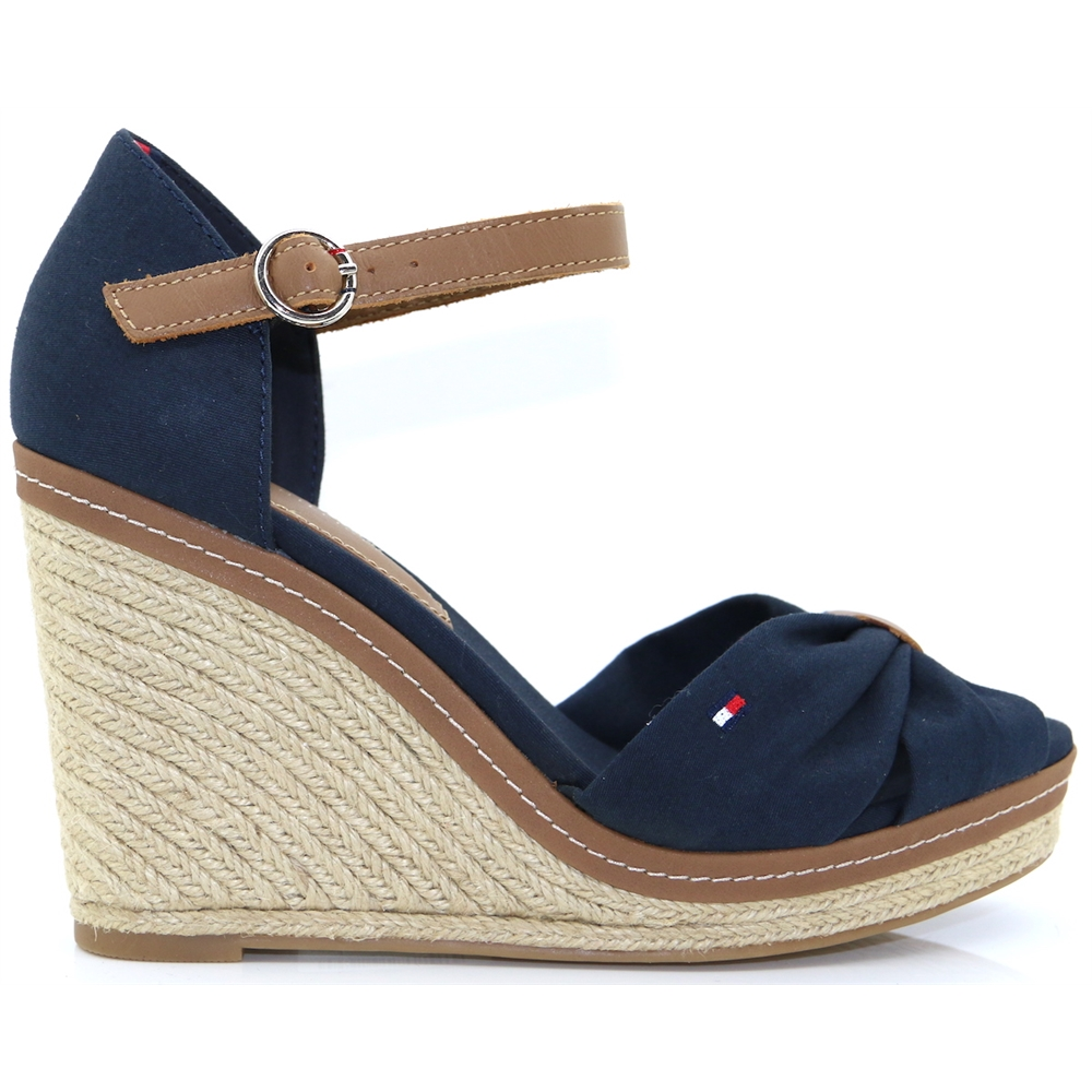 Iconic Elena Sandal - Tommy Hilfiger MIDNIGHT WEDGES