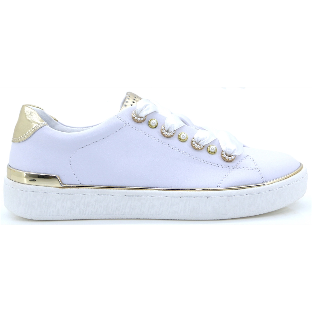 23703-22 - MARCO TOZZI WHITE AND GOLD TRAINERS