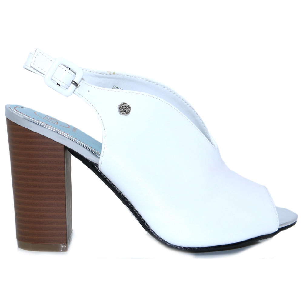 Houston - ZANNI & CO WHITE HEELS